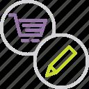 account, commerce, edit, finance, modify, online, shopping icon