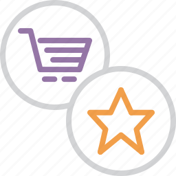 bookmark, cart, favorite, online, popular, rate, shopping icon