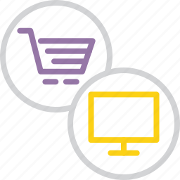 cart, computer, ecommerce, etrade, finance, online, shopping icon