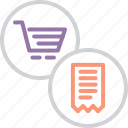 bill, cart, finance, invoice, online, shopping, statement icon