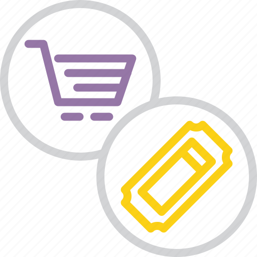 cart, coupon, discount, finance, online, shopping, voucher icon