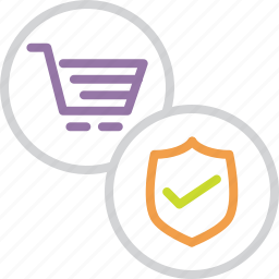 cart, finance, online, protect, secure, shield, shopping icon