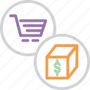 box, cart, finance, online, package, product, shopping icon