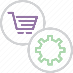 account, cart, ecommerce, online, preferences, settings, shopping icon