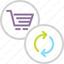 cart, ecommerce, online, refresh, shopping, sync, update icon