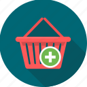 add, basket, buy, cart, ecommerce, plus, shop icon