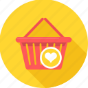 basket, buy, cart, commerce, ecommerce, shopping, wishlist icon