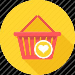 basket, buy, cart, commerce, ecommerce, shopping, wishlist icon