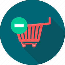 cancel, cart, remove, shop, shopping, trolley icon