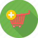 add, basket, cart, sale, shop, store, trolley icon