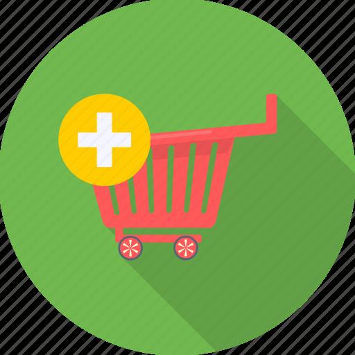 add, basket, cart, sale, shop, store, trolley icon