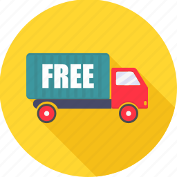 dispatch, free delivery, ship, shipping, transport, truck icon