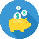 bank, investment, money, piggy bank, plan, retirement, saving icon