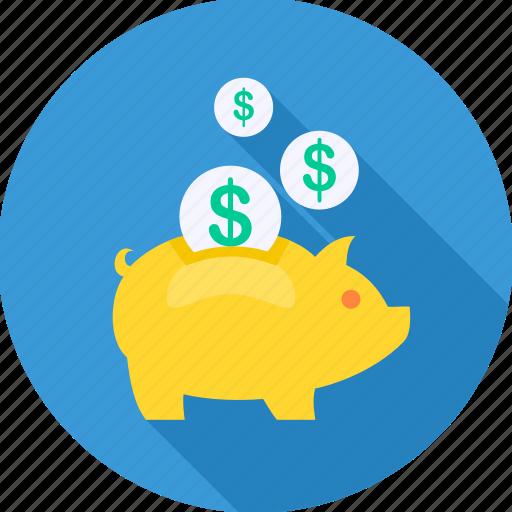 bank, investment, money, piggy bank, plan, retirement, saving icon