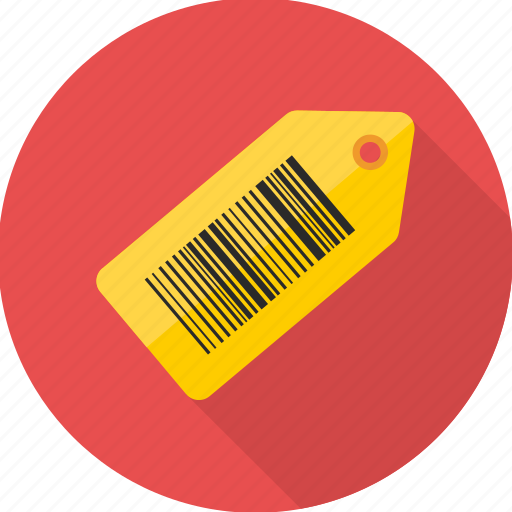 barcode, code, label, shopping, tag icon