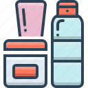 accessories, body, care, kit, products, tube icon