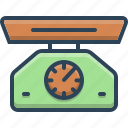 balance, measure, measurement, measuring, scale, weight icon