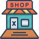 closed, ecommerce, retail, shop, shopping, store icon
