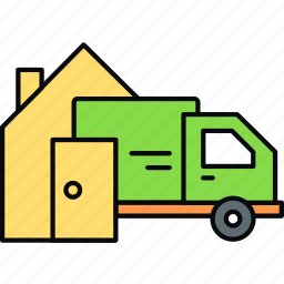 delivery, home, shipping, transportation icon