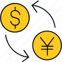 convert, currency, money, payment, transfer icon