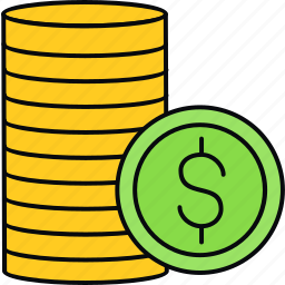 coins, finance, payment icon