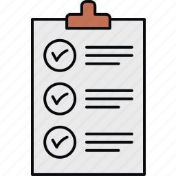 checklist, items, list, mark icon