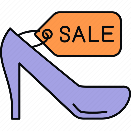 discount, footwear, sale, tag icon