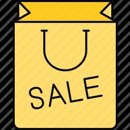 bag, sale, shopping icon