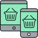 responsive, shopping, site icon