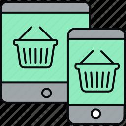 responsive, shopping, site icon