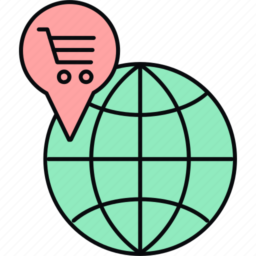 gpps, location, map, navigation, shopping icon