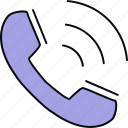 call, calling, contact, phone, ringing, support, telephone icon