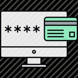 account, account no, code, cvv, password, pin, security icon