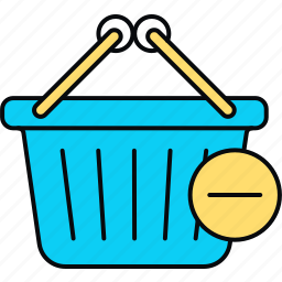 basket, deleted, remove icon