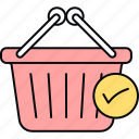 basket, cart, order, purchased, shopping icon