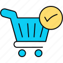 order, purchase, purchased, received, shop icon