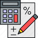 bill, billing, calculation, calculator, invoice, payment icon
