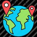 distance, international, globe, worldwide