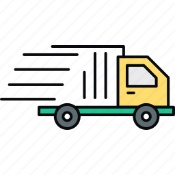 cargo, delivery, transport, transportation, travel, truck, van icon