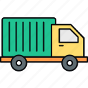 delivery, logistics, shipment, shipping, transportation, truck, van icon