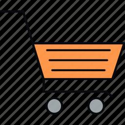 basket, cart, shopping, supermarket, trolley icon