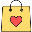 bag, gift, shopping, valentine icon