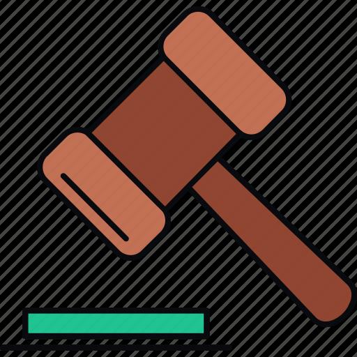 action, auction, bid, bidding, hammer, sale icon