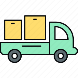 cargo, delivery, logistic, logistics, shipment, truck, van icon