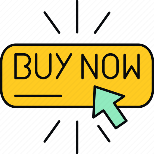 buy now, click, ecommerce, online, pay, shopping icon