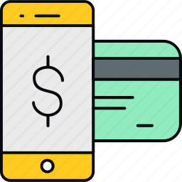 card, credit, ecommerce, mobile, money, payment icon