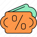 discount, label, offer, percent, percentage icon
