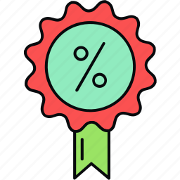 discount, offer, percentage, shopping icon