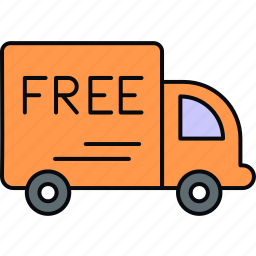delivery, free, free delivery, logistics, shipping icon