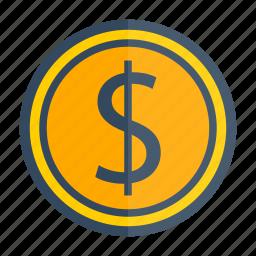 award, cash, coin, gold, money, prize icon